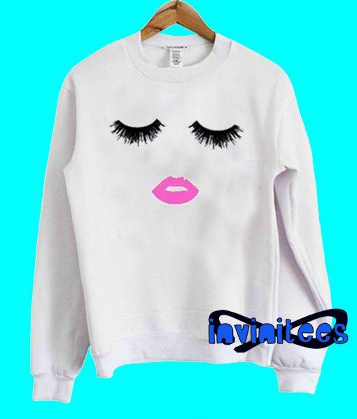 Eyelashes And Lips Sweatshirt