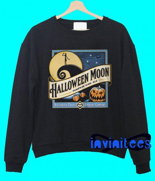 Halloween Moon Pumpkin King Ale Sweatshirt