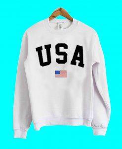 USA Flag Letter Black Sweatshirt