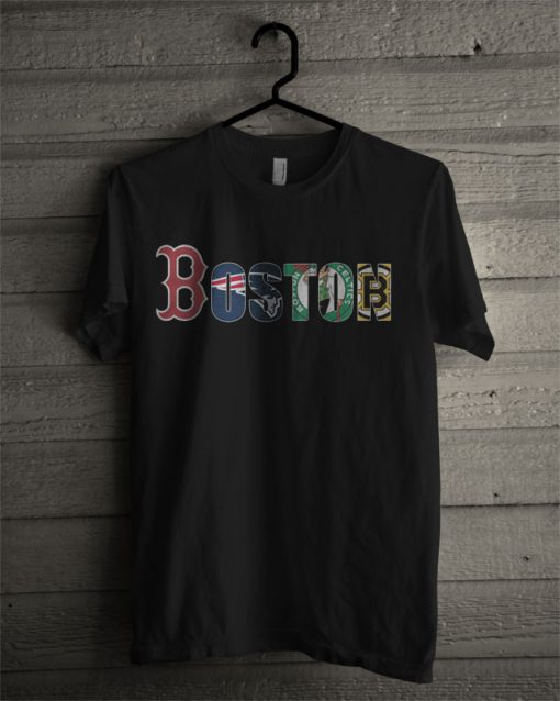 Boston Red Sox New England Patriots Boston Celtics Boston Bruins T Shirt