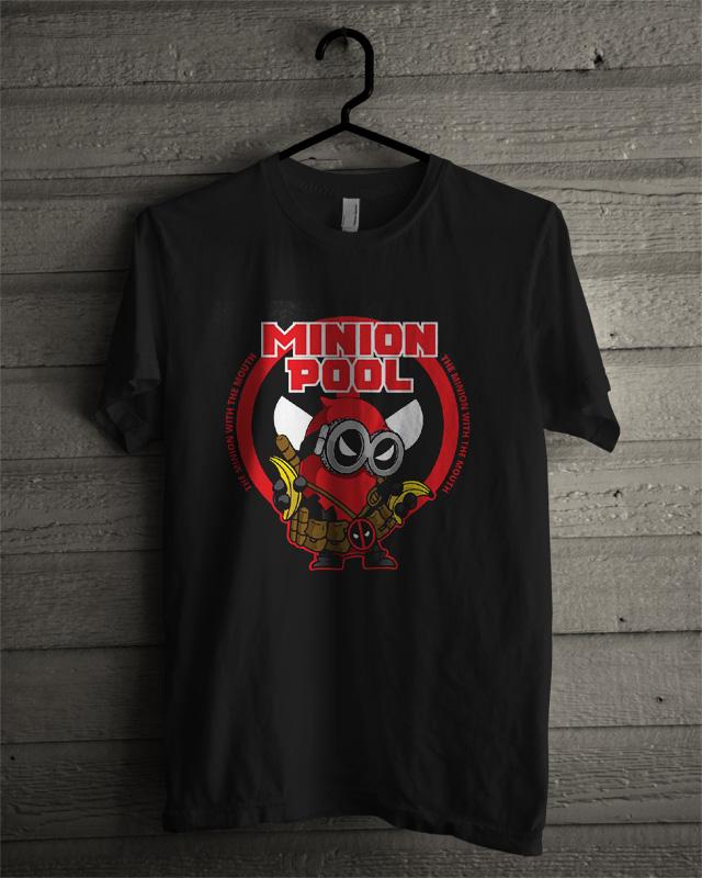 Minion Deadpool Funny parody T-Shirt