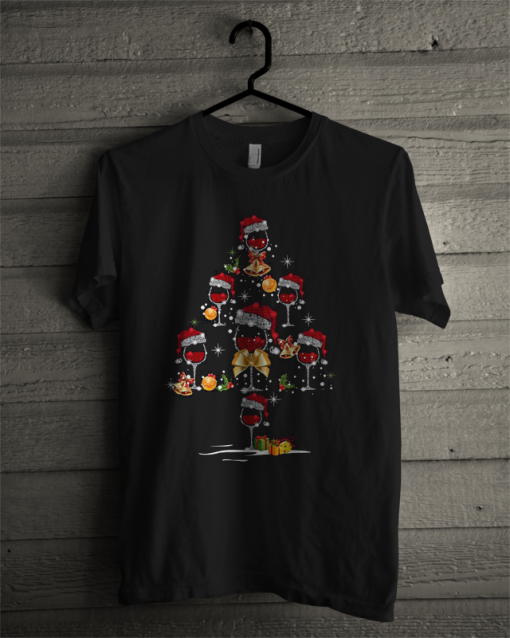 Official Wine Glass Christmas Tree T Shirt