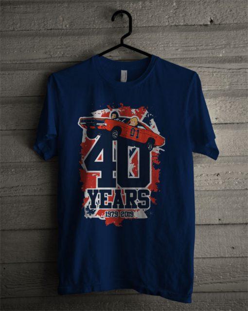 40 Years 1979-2019 The Dukes Of Hazzard T Shirt