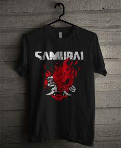 Cyberpunk 2077 Samurai Corporate Logo Classic T Shirt