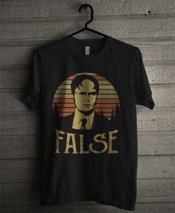 The Sunset Retro Dwight Schrute False T Shirt