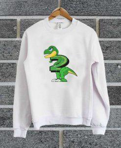 Two Year Old Dinosaur Kids Sweatshirt