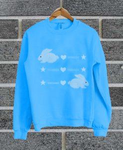 White Rabbits Blue Sweatshirt