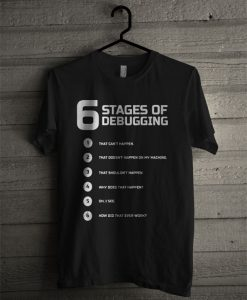 6 Stages Of Debugging T Shirt