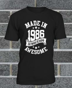 6TN Mens Made In 1986 T Shirt