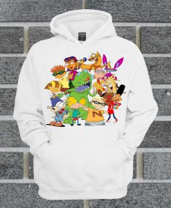 90's Cartoon Mash Up Tapestry Hoodie