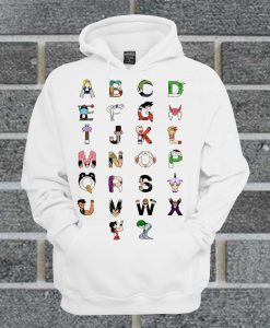 Alphabet Dragon Ball Hoodie
