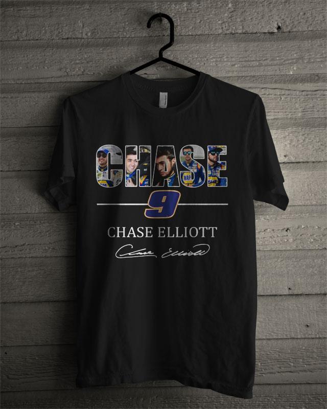Chase Elliott T Shirt >> Chase Elliott 9 Signature T Shirt