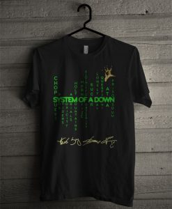 System Of A Down Chop Suey Byob Spiders Toxicity Aerials Holy Mountains T Shirt