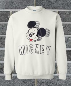 Vintage 90's Disney Big Mickey Mouse Head Spell Out Patches Sweatshirt