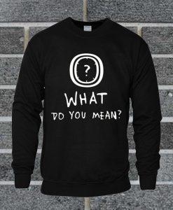 What Do You Mean Sweatshirt