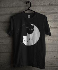 Yin Yang Cat T Shirt