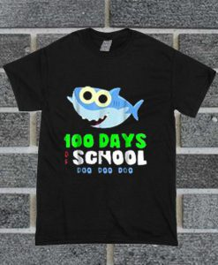 100 Days Of School Baby Shark Doo Do T Shirt