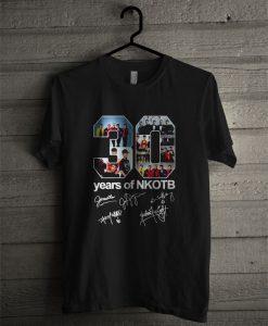30 Years Of NKOTB Signatures T Shirt