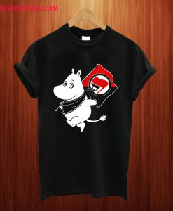 Antifa Moomin Anti-Fascist T Shirt