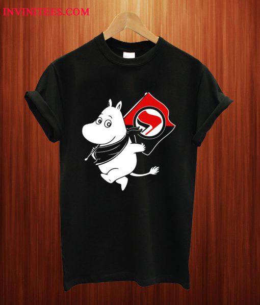 Antifa Moomin Anti-Fascist T Shirt