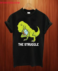 T-Rex Struggle Cute Dinosaur T Shirt