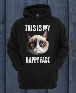This Is My Happy Face Grumpy Cat Hoodie