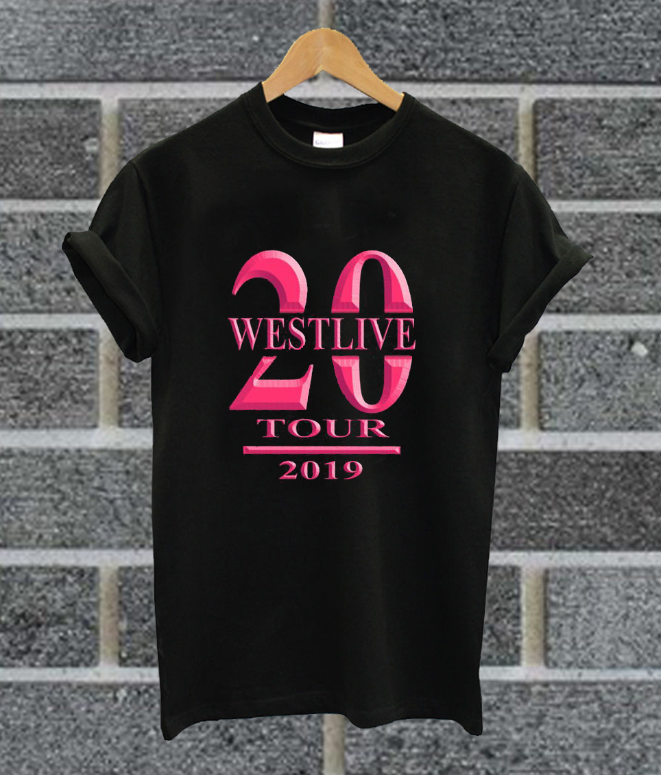 Westlife The Twenty Tour 2019 T Shirt
