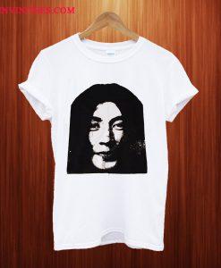 YOKO ONO Portrait Handmade Silkscreened T Shirt
