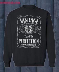 Vintage 1969 Birthday Year Jack Daniels Style Sweatshirt