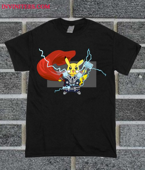 Pikavengers The Power Of Thorchu T Shirt