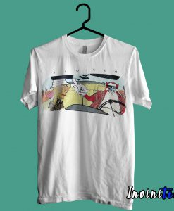 Ren and Stimpy Cartoon 90s Hunter S Thompson T shirt