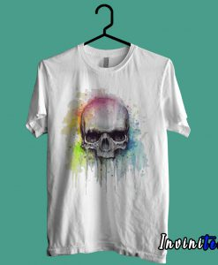 Skull Watercolor Painting T shirt
