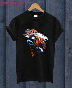 Spiderman Denver Broncos T Shirt