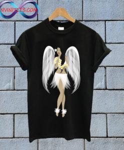 Hula Girl Angel Hawaiian T Shirt