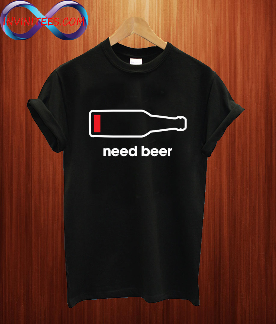 Beer Low Battery T Shirt
