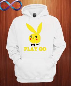 Play Go Pikachu Playboy Bunny Pokemon Hoodie
