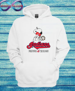 MLB The Peanuts Movie Snoopy Forever Win Or Lose Baseball Cleveland Indians Sweatshirt